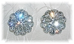 FABULOUS KRAMER CRYSTAL CLIP EARRINGS.......