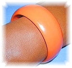 Bakelite Tangerine Bangle  Bracelet