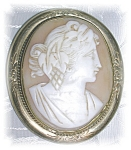 Click here to enlarge image and see more about item 1117200528: DEEPLY CARVED ANTIQUE CAMEO BROOCH......