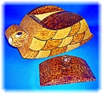 Click to view larger image of Tramp or Prison ArtTurtle Box - handmade  (Image1)