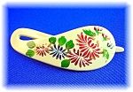 Click to view larger image of Hand Painted Lucite Bakelite Hair Slide (Image1)