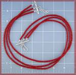 Click to view larger image of Coral 3 Strand Sterling Silver Hook Clasp Necklace (Image1)
