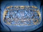 Click to view larger image of Glass bread serving tray clear, cut (Image3)
