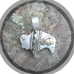 Click to view larger image of Tommy Singer Buffalo Pendant Sterling Silver and Gold (Image5)