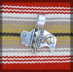 Click to view larger image of Tommy Singer Buffalo Pendant Sterling Silver and Gold (Image6)