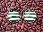 Taxco Mexico Sterling Silver Black Onyx Clip Earrings