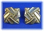 Sterling Silver Tasco Mexico Clip Earrings . . . .