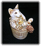 Click here to enlarge image and see more about item 1119200670: Harmony Kingdom England Bubble bath Kitty Box