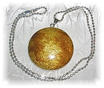 Click to view larger image of STERLING SILVER GOLDEN  PENDANT NECKLAC (Image1)