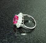 Click to view larger image of Ring Pink Tourmaline White Sapphire Sterling Silver (Image5)