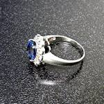 Click to view larger image of Ring Cornflower Blue Sapphire 2.60 Ct Sterling Silver (Image2)