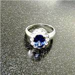 Click to view larger image of Ring Cornflower Blue Sapphire 2.60 Ct Sterling Silver (Image4)