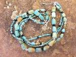 Click to view larger image of Silpada Turquoise Crystal Sterling Silver Necklace  (Image6)