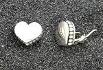 Click to view larger image of LAGOS Caviar Sterling Silver Heart Omega Clip Earrings  (Image6)