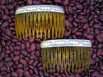 Click to view larger image of Sterling Silver and Plastic  Hair Combs (2) (Image3)