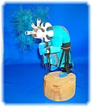 Click here to enlarge image and see more about item 1125200606: Native American Kokopelli Dancer Doll USA