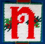 Click to view larger image of Christmas NOEL door hanging, cross stitch (Image2)