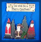 We Wish You A Merry Christmas  sign door hanging,