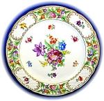 Hand Painted Porcelain Flower Plate Schumann Bavaria
