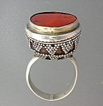 Click to view larger image of Sterling Silver Carnelian Vintage Ring (Image1)