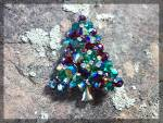 Click to view larger image of Christmas Pin Borealis Rivoli Vintage Crystal .... (Image1)