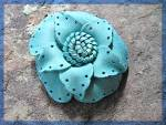 Click to view larger image of Leather Flower Brooch handmade for Lapel or Hat ....... (Image6)