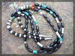 Click to view larger image of Native American TOMMY SINGER Sterling Silver Onyx  (Image2)