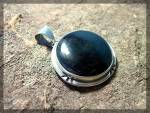 Click to view larger image of Pendant Sterling Silver Bezel Set Black Onyx ........ (Image1)