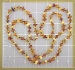 Necklace Honey Butterscotch and Green Amber ...........