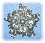 STERLING SILVER CINI LEAF PIN BROOCH.........