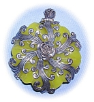 Click to view larger image of STERLING SILVER JADE PENDANT........ (Image1)
