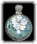Sterling Silver Laboradite Mother of Pearl Pendant
