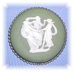Click to view larger image of STERLING SILVER THREE GRACES JASPER BROOCH (Image1)