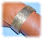 ART DECO GOLD FILL BANGLE BRACELET 50s