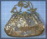 Click to view larger image of Gold Mesh Whiting  Davis Evening Bag Pearl Rhinestone T (Image4)
