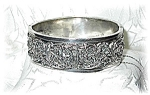 Click here to enlarge image and see more about item 1202200405: European Hallmarked  Silver Bangle Bracelet