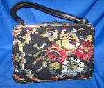 Click here to enlarge image and see more about item 1202200453: Vintage  CARA Needlepoint Bag