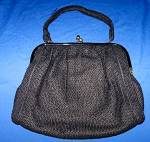 Click to view larger image of Vintage  Bead Bag Purse Double Compartment (Image4)