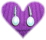 14 K WHITE GOLD DIAMOND and PEARL EARRINGS...