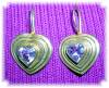 Click to view larger image of STERLING SILVER GOLD VERMEIL AMETHYST EARRING (Image5)