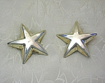Taxco Mexico Sterling Silver STAR Clip Earrings