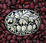 Click to view larger image of Cini Gugliemo Sterling Silver flowers and Leaves Brooch (Image1)