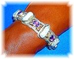 Sterling Silver Amethyst Freshwater pearl bracelet