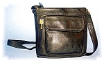 Black Leather FOSSIL Shoulder Bag