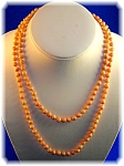 Click to view larger image of Necklace 14K Gold  Coral 5.6mm Beads  (Image1)