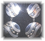 Click to view larger image of 3 InchSigned Sterling Silver Mexican Earrings (Image1)
