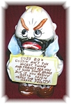 Click here to enlarge image and see more about item 1206200518: BANK, novelty Hobo Cuss Box Bank . . . . . .