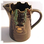 Click here to enlarge image and see more about item 1206200529: Black Burroughs England Vodka Pitcher