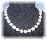 18 Inch 11mm Grey Shell Pearls