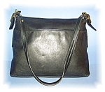 Black COACH Leather Shoulder Bag